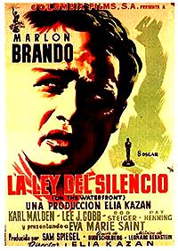 Cartel de cine gánsteres 1954